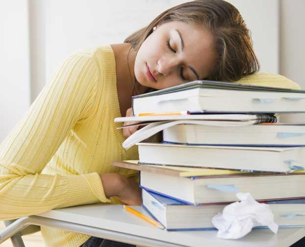 ... Do Too Much Homework, Study Says, and High-Schoolers Don't Do Enough