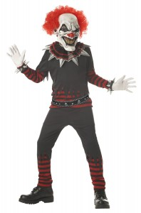 Credit by Kids Evil Clown Costume