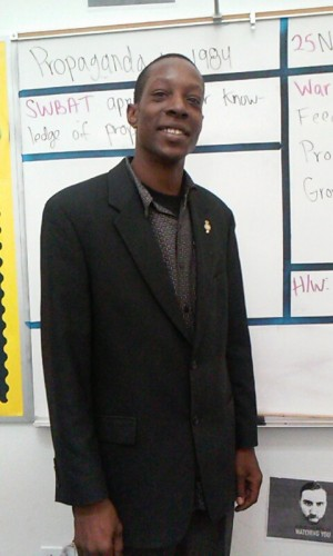 Daymond R. Johnson, school safety officer at Animo Pat Brown.
