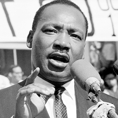 The leader of the civil rights movement.